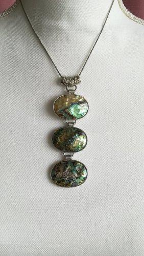 Halskette mit Perlmutanhänger, glänzend, schön, hochwertig