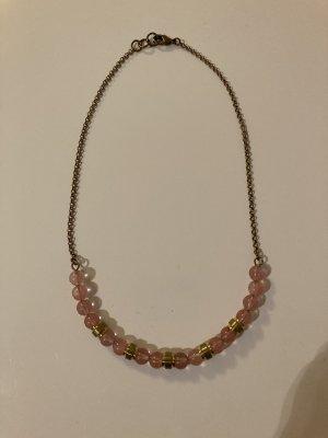 Halskette mit Rosenquarz  LETZTE PREISREDUZIERUNG  Wegen Umzug erfolgt Ende März Kleiderspende der Artikel