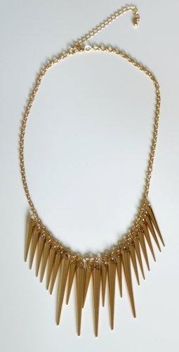 Halskette mit Spitzen, goldfarben,