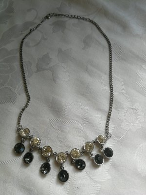 Statement Necklace silver-colored-grey