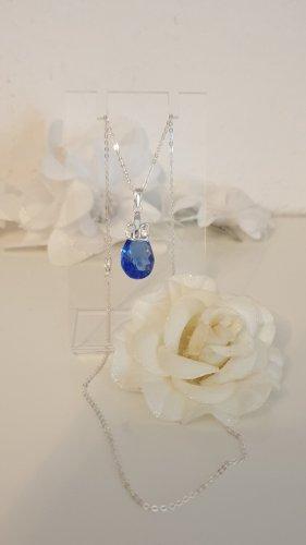 Swarovski Elements Chaîne en argent argenté-bleu