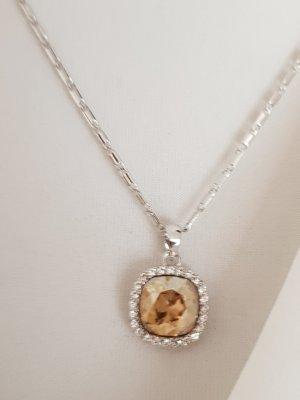 Metropolitan Collier argenté-abricot