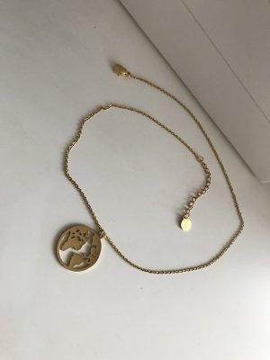 Halskette mit Weltkarte Anhänger