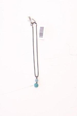 Halskette neu mit Etikett blau