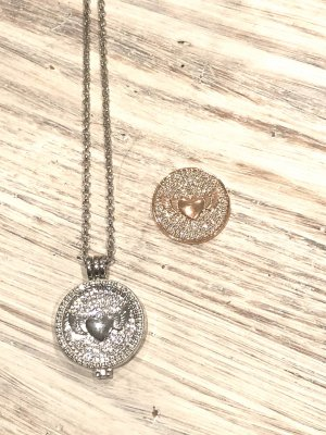 Necklace silver-colored-rose-gold-coloured