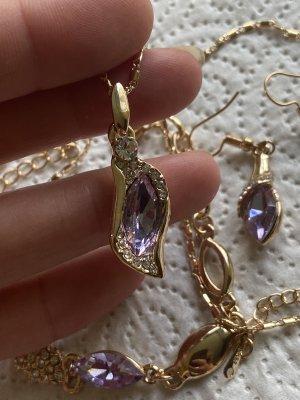 Halskette Oh Ringe Armband mit Steine neu