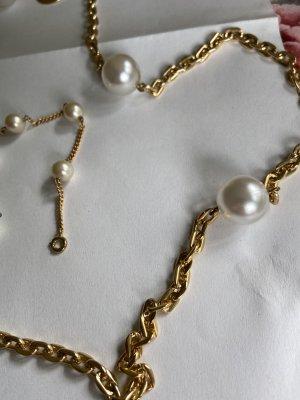 Halskette Ohrringe antik mit Perlen