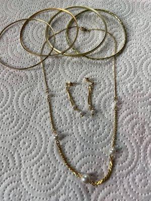Collana di perle oro-bianco