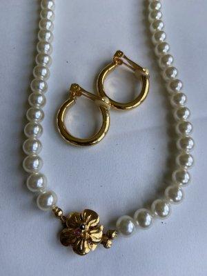 Halskette Ohrringe massiv vintage