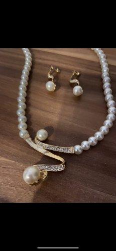 Halskette Ohrringe Perlen neu