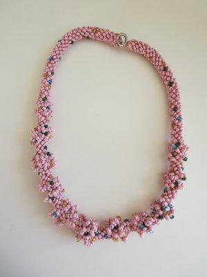 Halskette Perlen rosa-bunt Selfmade