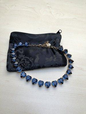 Pieffe Design Pendente blu scuro-oro