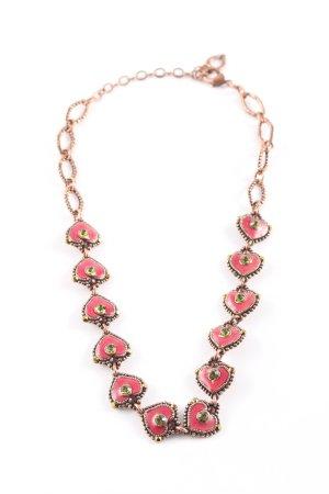 Taratata Halskette rot-bronzefarben Elegant