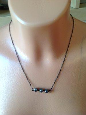 Halskette schwarz PIECES