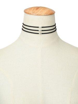 Halskette schwarz silber - größenverstellbar