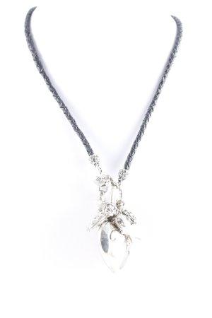 Halskette schwarz-silberfarben Casual-Look