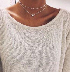 Halskette Silber Kette Modeschmuck Schmuck Boohoo Herz
