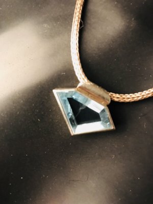 Collier Necklace silver-colored-azure