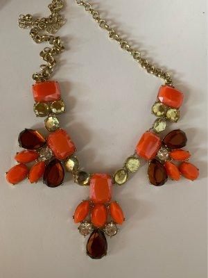 Collar estilo collier naranja-rojo oscuro