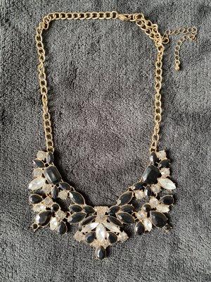 Halskette Statement schwarz/gold