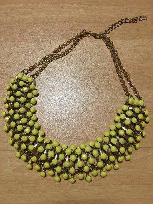 Halskette Statementkette Kette Gelb Gold