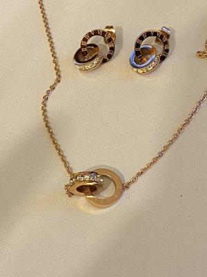 Halskette und Ohrringe neu rosé Gold Farbe