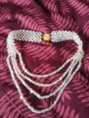 Halskette vintage weiß