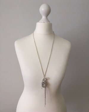 Accessorize Ketting zilver-wit