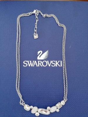 Swarovski Necklace light grey metal