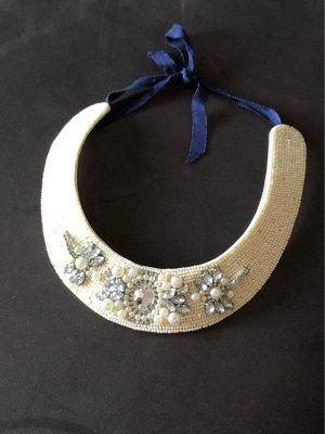 Zara Collar estilo collier blanco