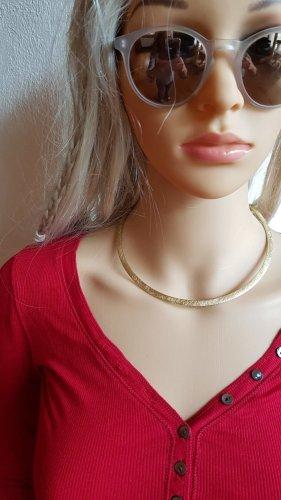 Halsreifen von SANDRINE matt-goldfarben