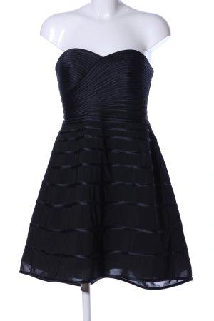 Halston heritage Sukienka z rękawem balonowym czarny Wzór w paski Elegancki