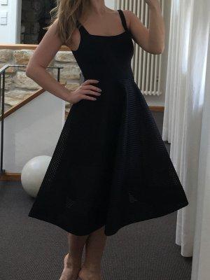 Halston Heritage - Feminines Kleid mit Mesh-Overlay (NP 475 USD)