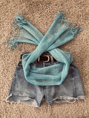Pañoleta azul claro-turquesa
