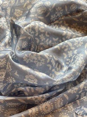 Esprit Sciarpa di seta azzurro-bianco