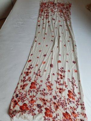 Sjaal met franjes room