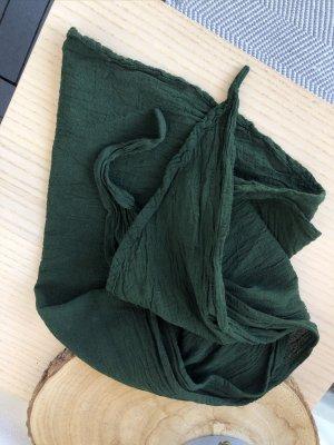 Halstuch Bandana 145x45 cm Baumwolle dunkelgrün