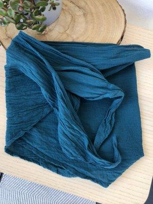 Halstuch Bandana petrol Baumwolle 145x45 cm
