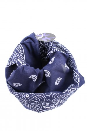 Halstuch blau-weiß abstraktes Muster Casual-Look