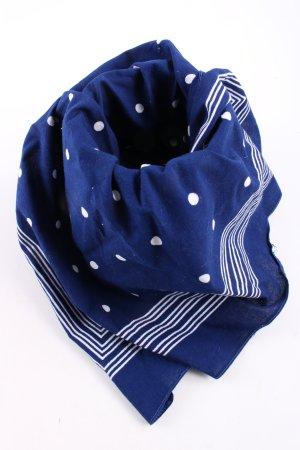 Halsdoek blauw-wit gestippeld patroon casual uitstraling