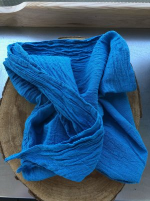 Ohne Neckerchief turquoise-neon blue cotton