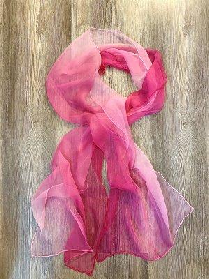 Bufanda de seda rosa-rosa claro