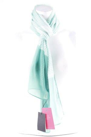 Foulard vert-blanc motif rayé style décontracté