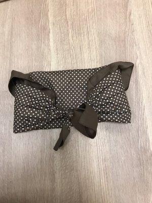 Pañoleta marrón-blanco puro