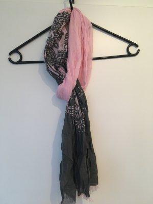 Halstuch in rosa-grau