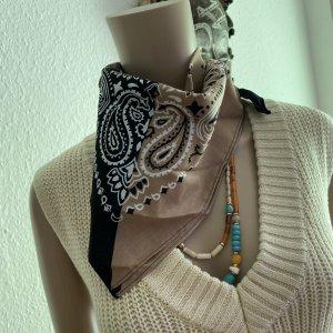 accessories Apaszka czarny-beżowy