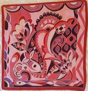 Halstuch Nickituch  von Natur pur 50 x 50 cm  Reine Seide