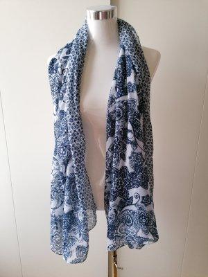 Foulard blanc-bleu