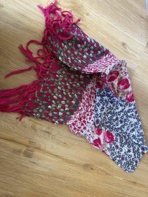 Halstuch Schal mit Fransen