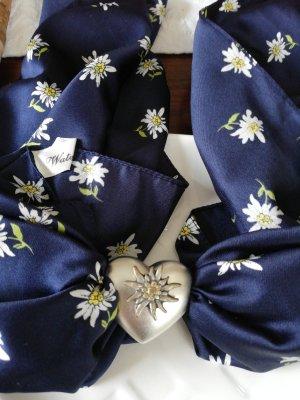Pañuelo folclórico blanco-azul oscuro Poliéster
